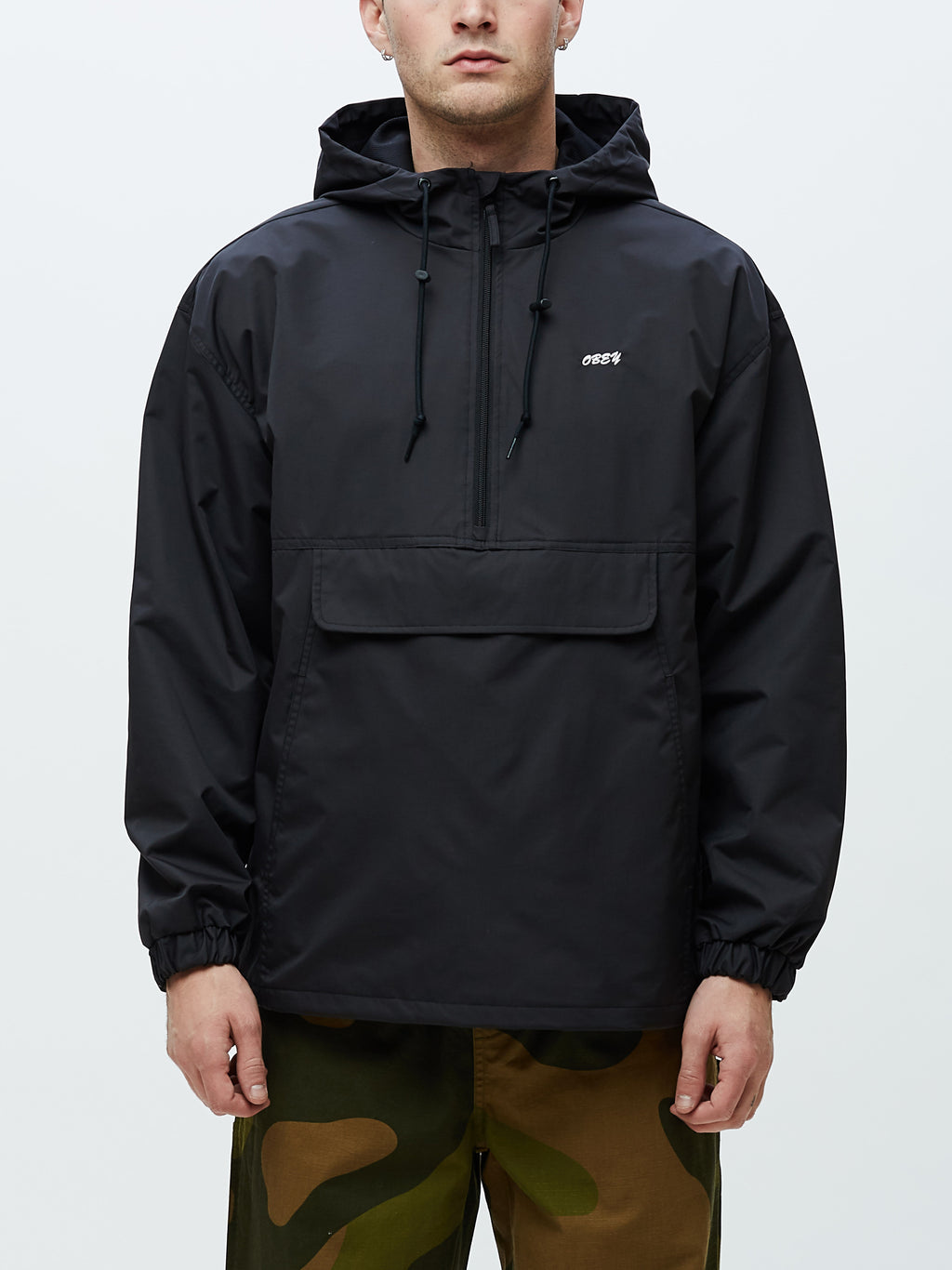 OBEY - Recess Men's Anorak Jacket, Black
