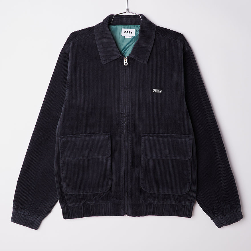 Obey Men's Blue Corduroy Jacket