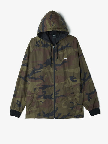 OBEY - Channel Zero Hooded Men's Coaches Jacket, Camo