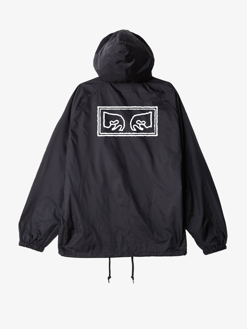 OBEY - Obey Eyes Men's Coaches Jacket, Black - The Giant Peach