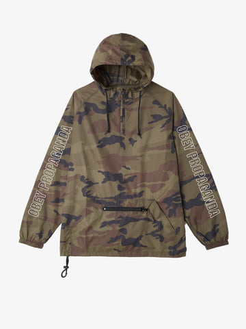 OBEY - Rough Draft Men's Anorak Jacket, Camo