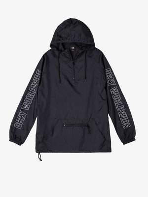 OBEY - Obey Worldwide Outline Men's Anorak Jacket, Black - The Giant Peach