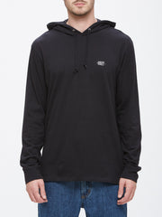 OBEY - Metier Men's L/S Hooded Tee, Black - The Giant Peach