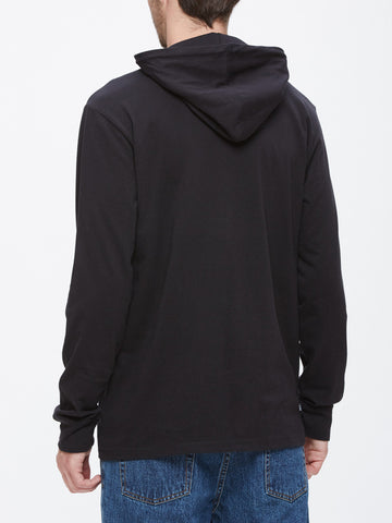 OBEY - Metier Men's L/S Hooded Tee, Black