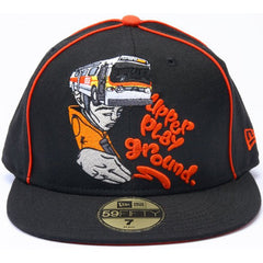 Upper Playground - Sam Flores Bus Head New Era Fitted Hat, Black - The Giant Peach
