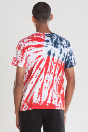 OBEY - Dewallen Splatter Flag Men's Tee, Tie Dye - The Giant Peach