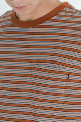 OBEY - County Men's Pocket Tee, Burnt Sienna Multi - The Giant Peach