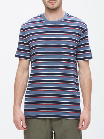 OBEY - Harbor Men's Pocket Tee, Blue Multi