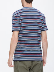 OBEY - Harbor Men's Pocket Tee, Blue Multi - The Giant Peach