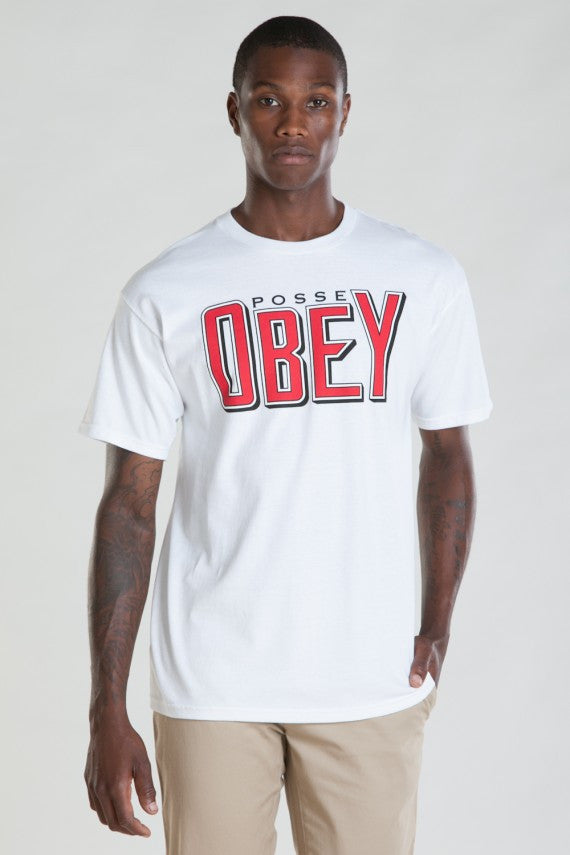 OBEY - Snake Bite Men's Tee, White - The Giant Peach