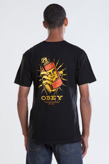 OBEY - Frank Men's Tee, Black - The Giant Peach