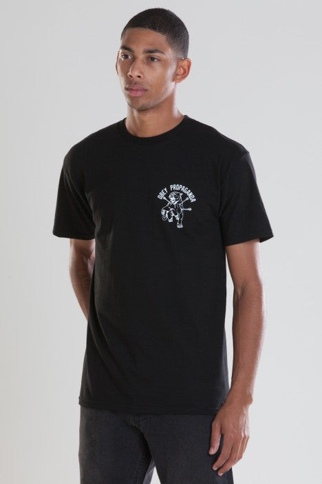 OBEY - Don't Stop Men's Tee, Black - The Giant Peach