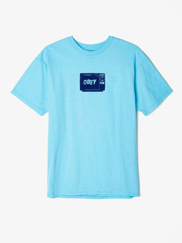 OBEY - What To Think Men's Shirt, Pacific Blue