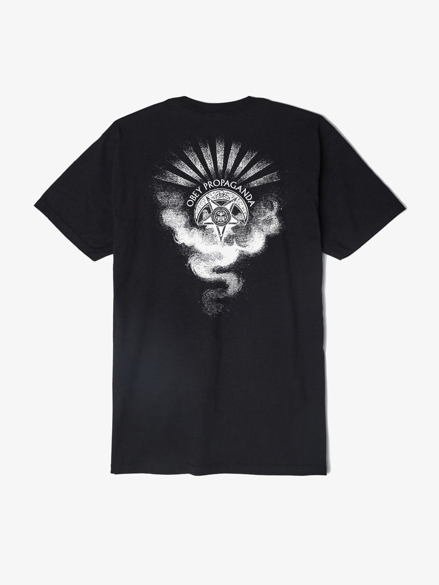 OBEY - Cult Of The Dark Smoke Men's Shirt, Black - The Giant Peach