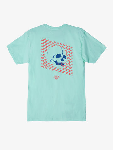 OBEY x Never Made - Wall Of Death Men's Shirt, Celadon