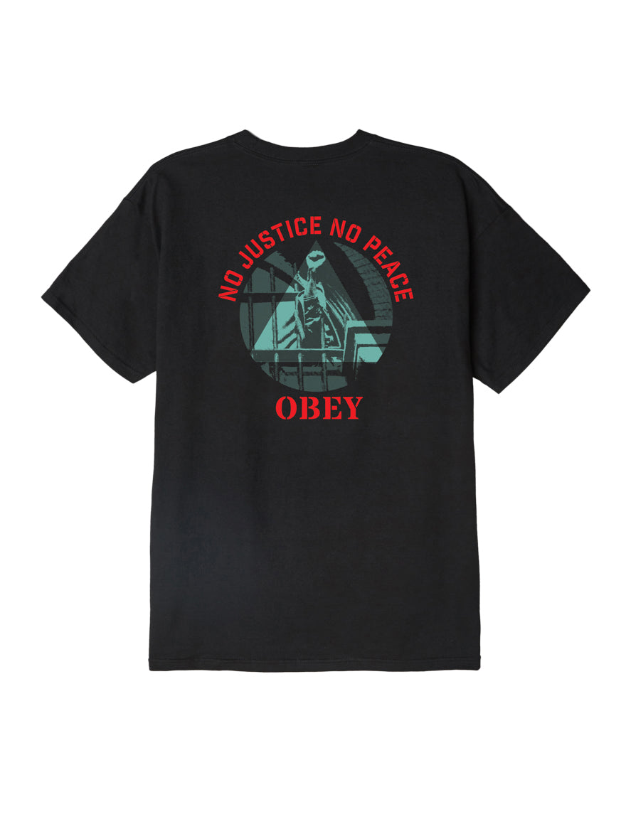 OBEY - No Justice, No Peace Men's Tee, Black