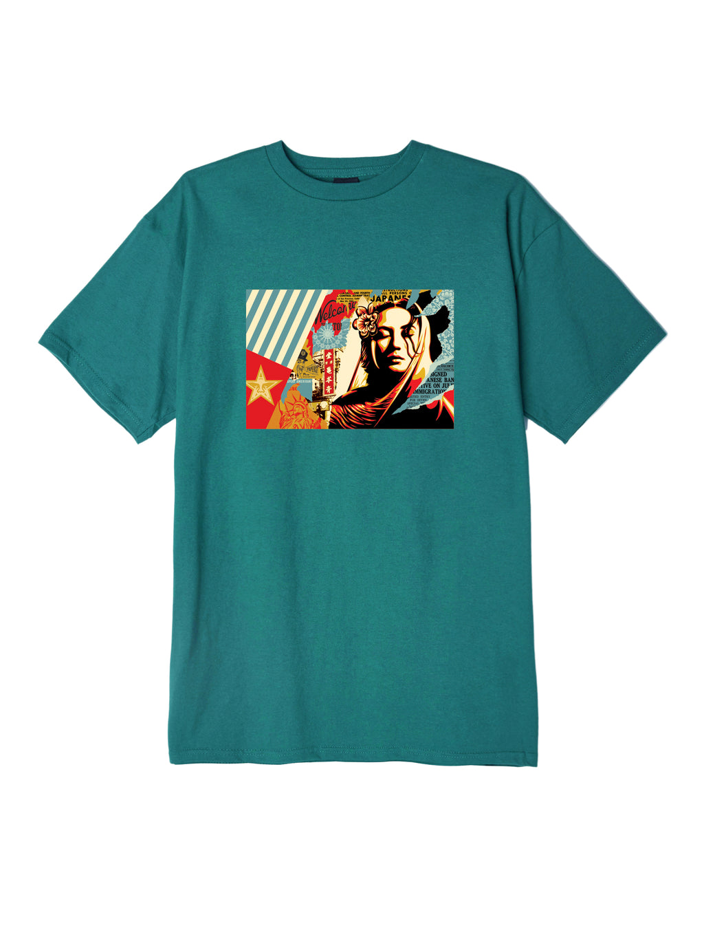 OBEY - Welcome Visitor Men's Tee, Teal