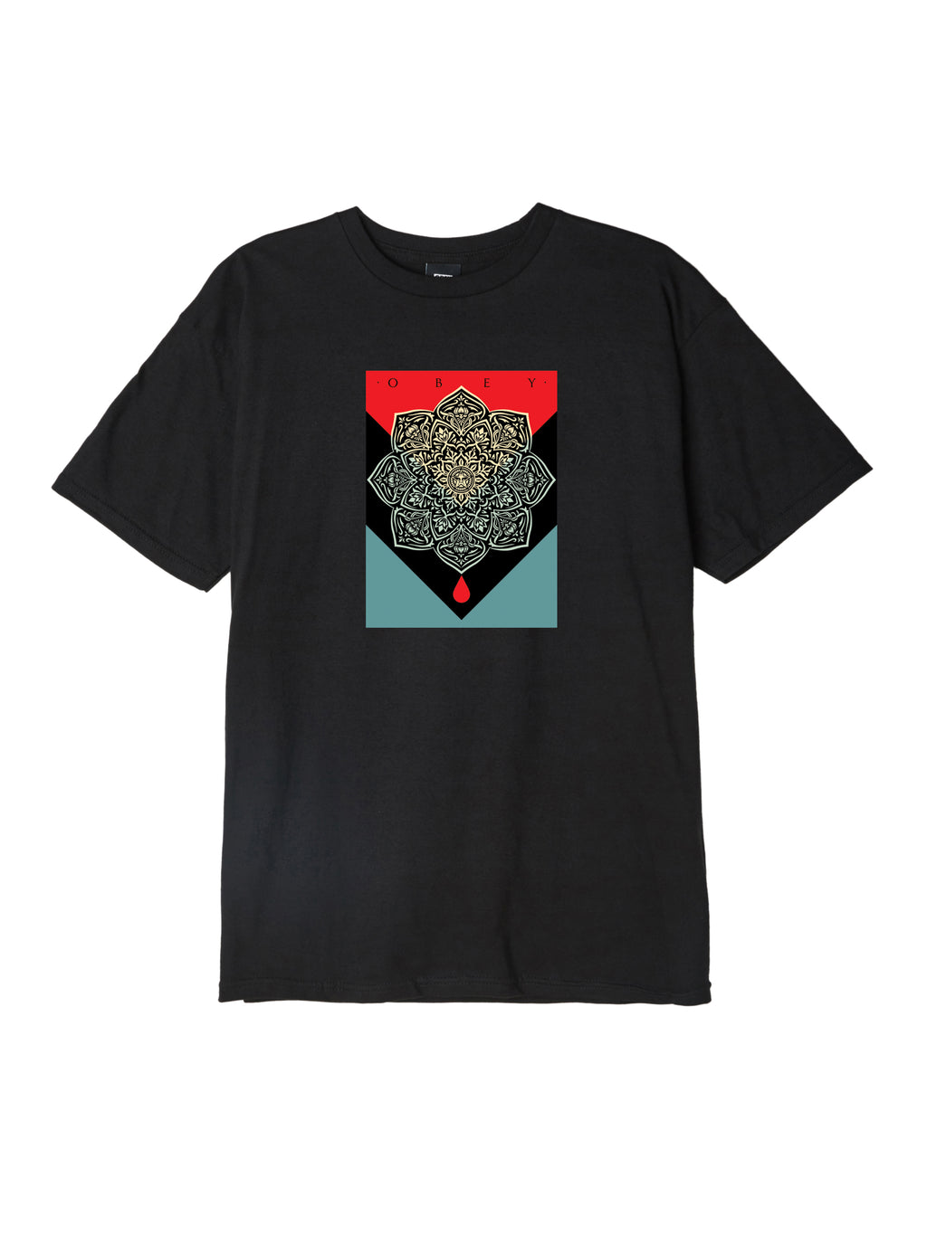 OBEY - Blood & Oil Mandala Men's Tee, Black
