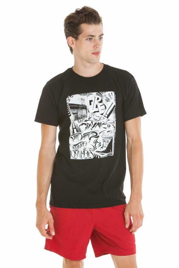 OBEY - All City All Stars Premium Men's Shirt, Black - The Giant Peach