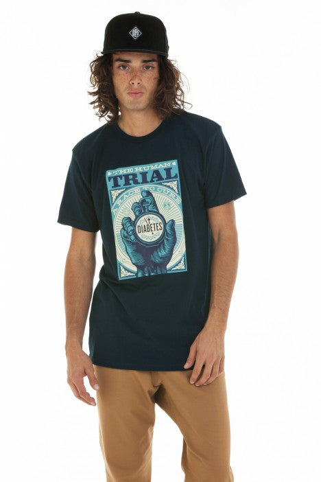 OBEY - The Human Trial Men's Shirt, Navy - The Giant Peach - 1