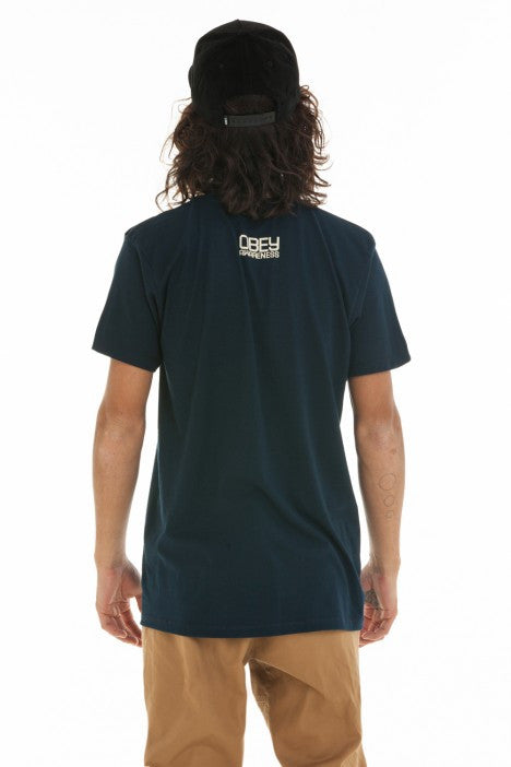 OBEY - The Human Trial Men's Shirt, Navy - The Giant Peach