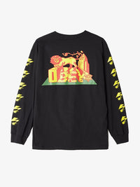 OBEY - Bad Brains Conquering Lion Men's L/S Shirt, Black - The Giant Peach