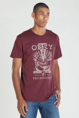 OBEY - Til The End Premium Men's Shirt, Burgundy - The Giant Peach