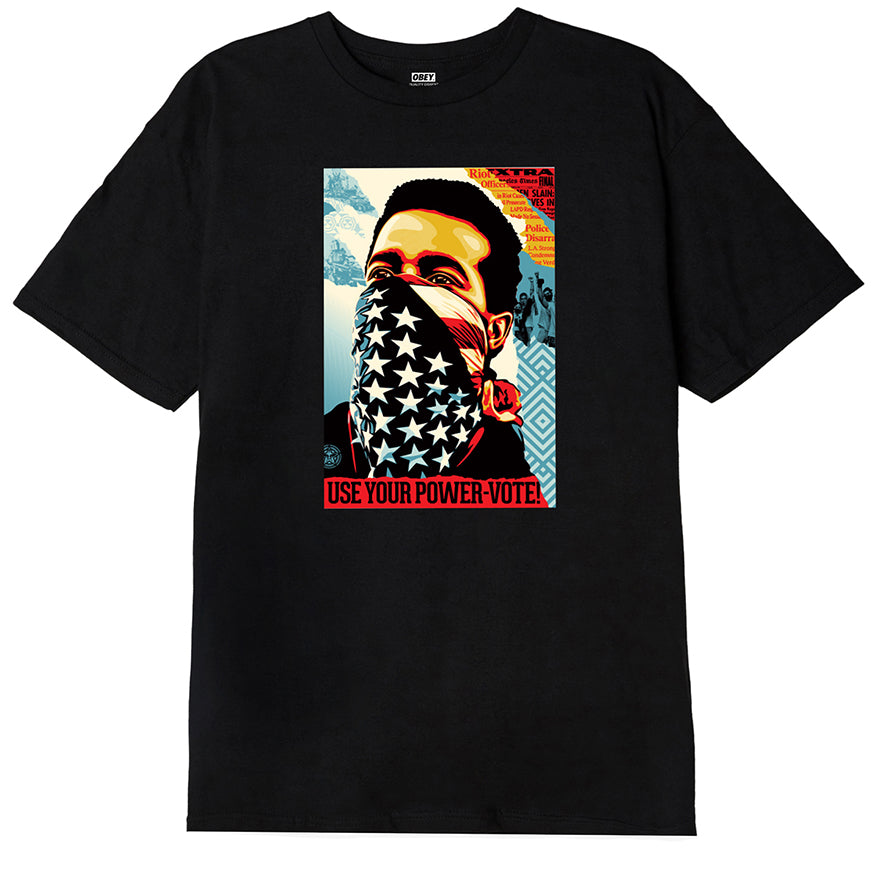 OBEY - American Rage Vote Men's Tee, Black