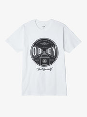 OBEY - OBEY Under Pressure Men's Shirt, White - The Giant Peach