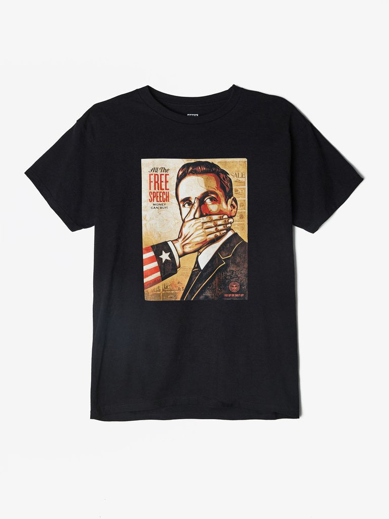 OBEY - Pay Up Or Shut Up! Men's Shirt, Black - The Giant Peach
