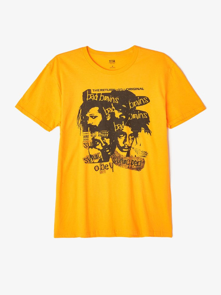 OBEY - Return of the Orig Bad Brains Men's Shirt, Gold - The Giant Peach