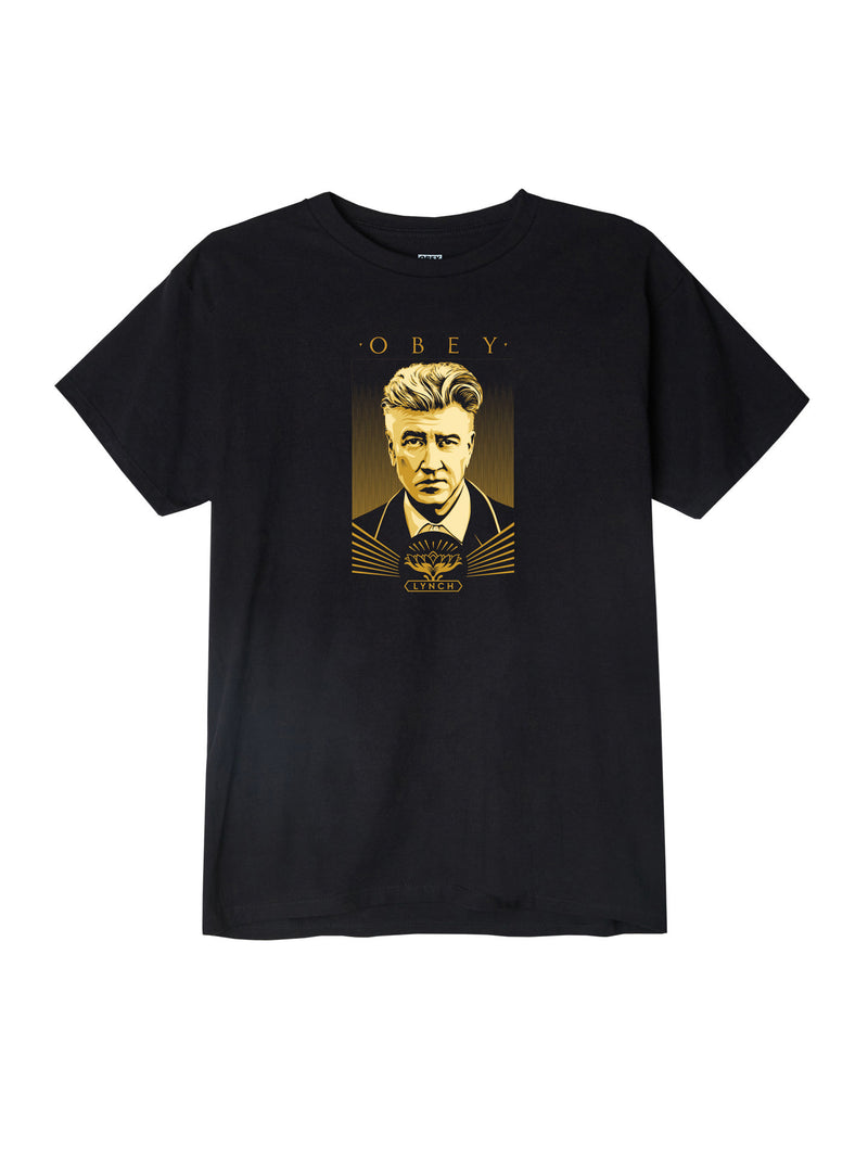 OBEY - David Lynch Awareness Men's Shirt, Black - The Giant Peach