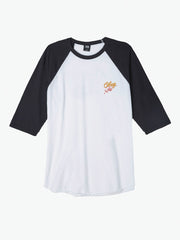 OBEY - Careless Whispers Men's Raglan, White/Black - The Giant Peach