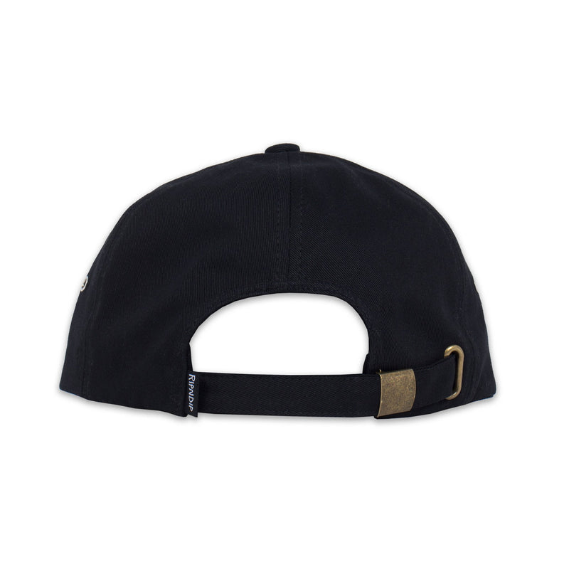 RIPNDIP - Lord Nermal 6 Panel Pocket Hat, Black - The Giant Peach