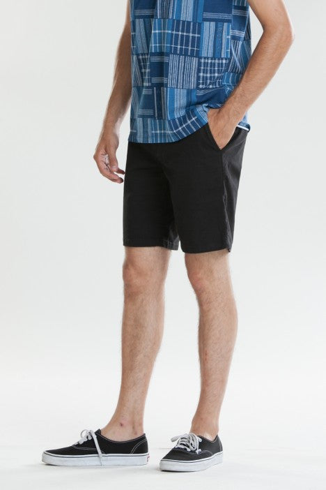 OBEY - Working Man II Men's Shorts, Black - The Giant Peach - 2