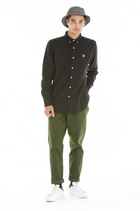OBEY - Eighty Nine Woven L/S Men's Shirt, Black - The Giant Peach