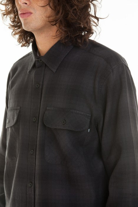 OBEY - Huddle Men's Woven Button Up Shirt, Black Multi - The Giant Peach