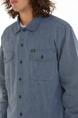 OBEY - Hillstone Men's Woven Button Up Shirt, Navy - The Giant Peach - 3