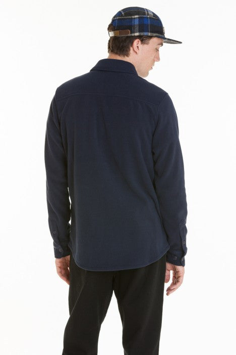 OBEY - Lafayette Men's Fleece Shirt, Dark Navy - The Giant Peach
