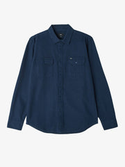OBEY - Gunner Woven L/S Men's Shirt, Navy - The Giant Peach