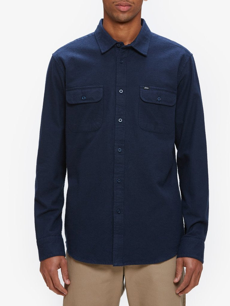 OBEY - Gunner Woven L/S Men's Shirt, Navy - The Giant Peach - 1