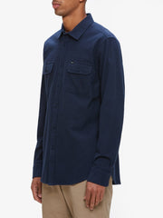 OBEY - Gunner Woven L/S Men's Shirt, Navy - The Giant Peach - 3