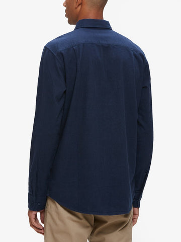 OBEY - Gunner Woven L/S Men's Shirt, Navy