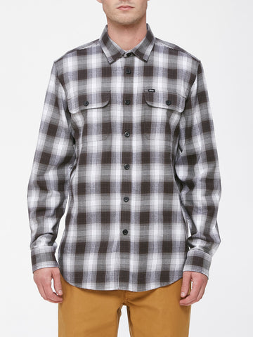 OBEY - Kemper Men's Woven Shirt, Black Multi