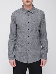 OBEY - Numbers Men's Woven Shirt, Heather Black - The Giant Peach