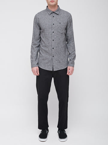 OBEY - Numbers Men's Woven Shirt, Heather Black