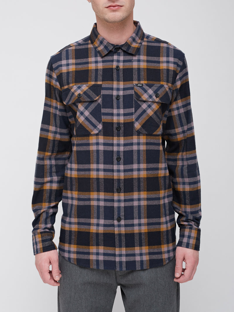 OBEY - Canvas Men's Woven Shirt, Dark Navy Multi - The Giant Peach