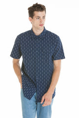 OBEY - Norris Woven Men's Shirt, Navy Multi - The Giant Peach - 1