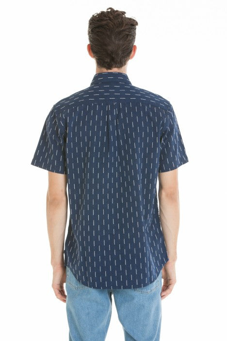 OBEY - Norris Woven Men's Shirt, Navy Multi - The Giant Peach - 3
