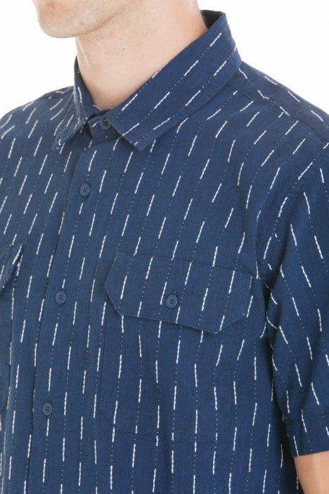 OBEY - Norris Woven Men's Shirt, Navy Multi - The Giant Peach - 4